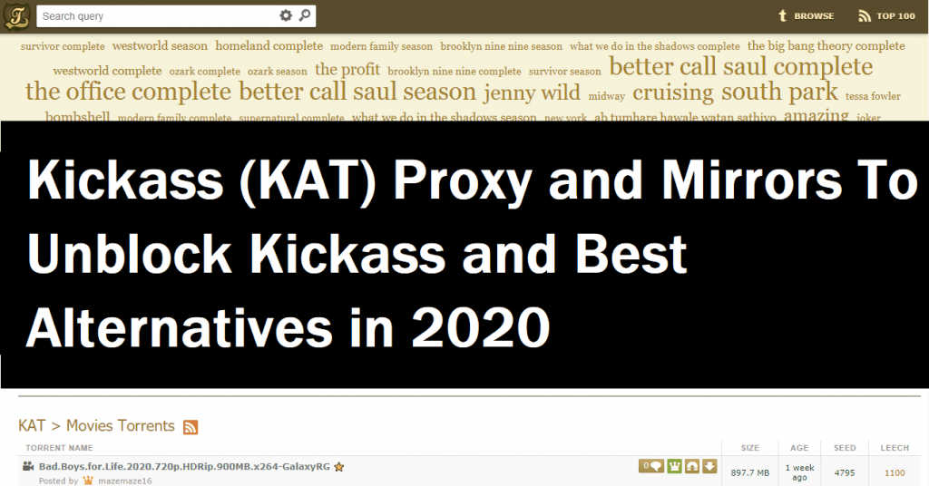 kickass proxy and mirrors